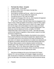 CLCV 217 Lecture Notes - Mnesikles, Delian League, Peloponnesian War