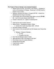 CLCV 217 Lecture Notes - Discobolus, Pirithous, Antis
