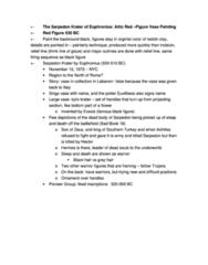 CLCV 217 Lecture Notes - Krater, Sarpedon, Amphora