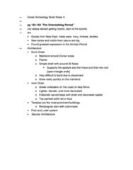 Greek Archeology Book Notes 3 (got best mark for course)