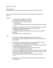 BIOL 514 Lecture Notes - Brine Shrimp, Hox Gene, Repressor