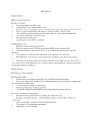ANTH 1150 Lecture Notes - Lecture 11: Bsc Young Boys, Human Sexuality, Social Reproduction