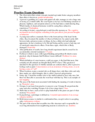 PSYA01: Final Review Questions (With Answers)