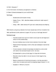 BIOL 514 Lecture Notes - External Fertilization, Meiosis, The Breakthrough