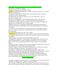 AN101 Chapter Notes - Chapter 1: Biological Anthropology, Dialectic, Ethnocentrism