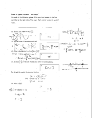 Test 1 Practice test w solutions
