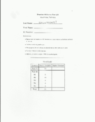Test 2 Practice test w solutions