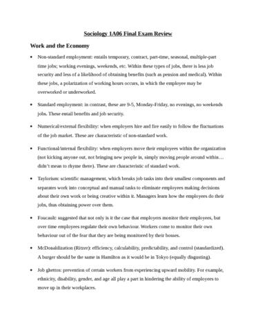sociology final exam vocab Sociology test 10 sociology final exam social psychology 24 intro to sociology 101 sociology chapter four soc chapter 3 culture sociology ( culture vocab.