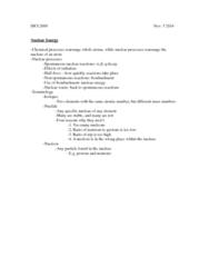 ISCI 2000 Lecture Notes - Lecture 7: Nuclide