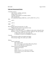 ISCI 2000 Lecture Notes - Lecture 2: Scientific Notation, Infimum And Supremum, Potential Energy
