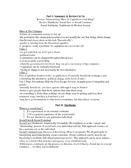 Sociology 2270A/B Study Guide - Anomie, Social Fact, Mechanical And Organic Solidarity