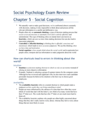 PSYC 2310 Study Guide - Final Guide: Availability Heuristic, Social Cognition, Old Age