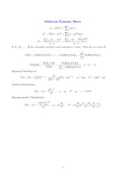STAT 2507 Study Guide - Midterm Guide: Poisson Distribution