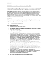 HIST 215 Lecture Notes - Lecture 4: Protectionism, Thalassocracy, Mercantilism