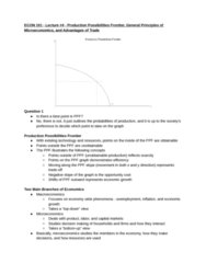 ECON 101 Lecture Notes - Lecture 4: Opportunity Cost, Microeconomics, American Economic Association