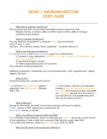 Cmpt 120 Final Topic Micromacroarchitecture Study Guidepdf