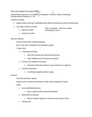 BIOL 224 Lecture Notes - Lecture 5: Exosphere, Depolarization, Central Nervous System