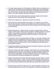 SMC103Y1 Lecture Notes - Lecture 2: Russian Literature, Laurence Sterne, Serfdom In Russia