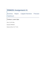 RSM251H1 Lecture 4: RSM251 Assignment#1.docx