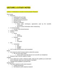CCT208H5 Midterm: CCT208 Study Notes V.1.docx