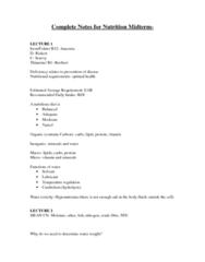 NUTR 3210 Study Guide - Midterm Guide: Dermatitis, Cecum, Pectin