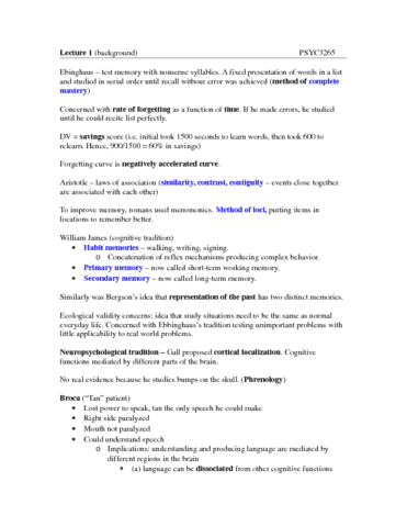 psyc-3265-lecture-1-memory-lecture-1-notes-docx