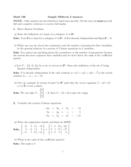 MATH136 Study Guide - Midterm Guide: Vehicle-To-Grid, Vulgate, Augmented Matrix
