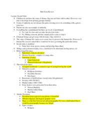 SOC211H5 Midterm: Mid-Term Review.docx