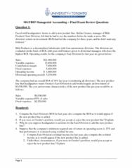 MGAB03H3 Final: MGTB03 Final Exam Review Q and A Final Version.pdf