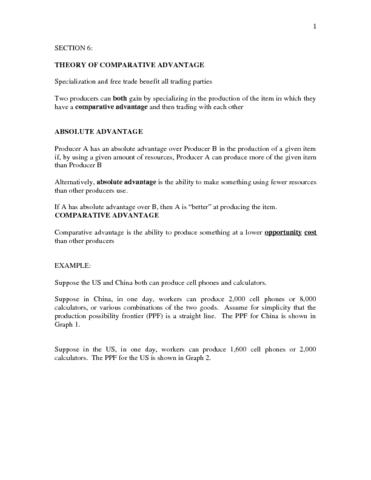 Econ 0110 Lecture 7 06 Comparative Advantagec Oneclass