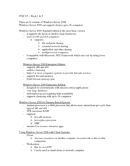 ITM 315 Lecture Notes - Lecture 1: Internet Protocol Suite, Dynamic Host Configuration Protocol, Active Directory
