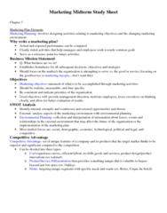 MKT1040 Midterm: Marketing Midterm Study Sheet.docx