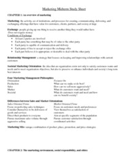 MKT1040 Study Guide - Midterm Guide: Psychographic