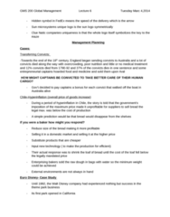 GMS 200 Lecture Notes - Lecture 6: Pareto Principle, Sun Microsystems, Acronym