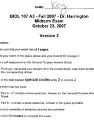 BIOL 107 Midterm: Bio 107 Sample Midterm 2 Answer.pdf