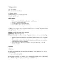 GEOG 1HB3 Final: GEO - Final Exam.docx