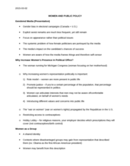 POL 3126 Lecture Notes - Lecture 6: Hobby Lobby, Role Model, Single Transferable Vote