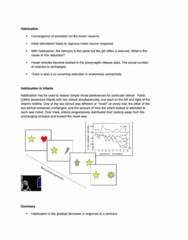 Habituation (review notes)