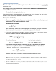 Collinear Economcis Variables (got best mark for course)