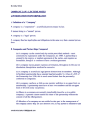 Corp Law notes (review notes)