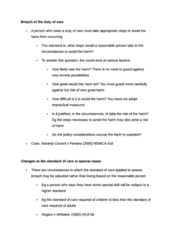 Breach of the duty of care (all the notes you need)