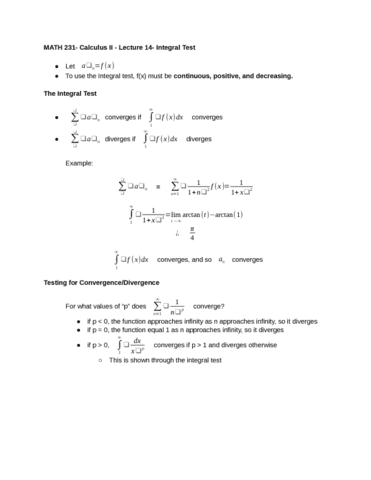 Stat 231 course notes - Homework Example