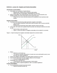 ECON 101 Lecture Notes - Lecture 18: Deadweight Loss, Social Cost, Externality