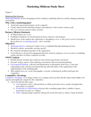 MKT1040 Midterm: Marketing Midterm Study Sheet.docx