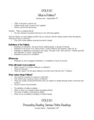 POLS110 Final: April Exam Notes Pols 110