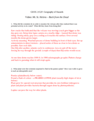 Geography 2240A/B Chapter Notes - Chapter 6: Pumice, Seismometer, Eiffel Tower