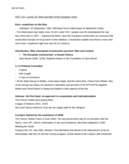 HIST 215 Lecture Notes - Lecture 20: Maastricht Treaty, Schuman Declaration, French Communist Party