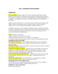 PSYC 3480 Study Guide - Final Guide: Extraversion And Introversion, Neuroticism, Conscientiousness