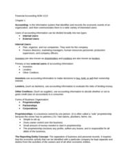 ADM1213 Lecture Notes - Lecture 1: Income Statement, Sole Proprietorship, Finance Lease