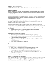 POL 3115 Study Guide - Final Guide: Polyarchy, Clientelism, Universal Declaration Of Human Rights